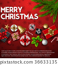 Christmas background with elements 36633135