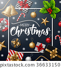 Merry Christmas with Christmas elements 36633150