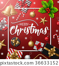 Merry Christmas with Christmas elements 36633152