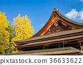 kitano shrine, kitano tenman-gu, ginkgo 36633622