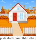 autumn, house, fall 36635043