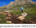 hiking river hiker 36635230