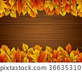 잎, 배경, 가을 36635310