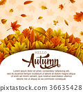 Hello autumn banner template 36635428