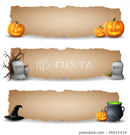 Halloween horizontal banners 36635439