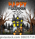 Scary Halloween background 36635716