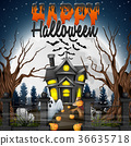 Scary Halloween background 36635718