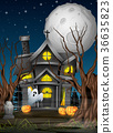 Scary Halloween background 36635823