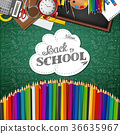 Welcome back to school with colored pencils 36635967