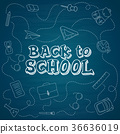 Back to school hand-drawn doodles background 36636019