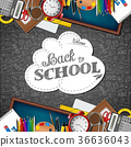 Welcome back to school with school supplies 36636043