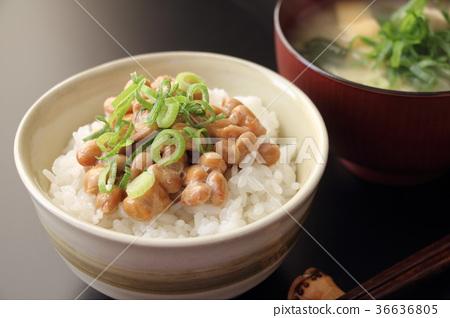 Natto rice 36636805