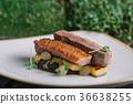 Meat duck polenta 36638255