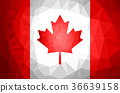 Canada Flag Polygon Abstract. 36639158