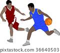 basketball players illustration 36640503