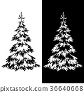 Christmas Fir Tree Pictograms 36640668
