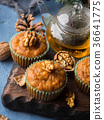 Winter Carrot spiced muffins with walnuts 36641775