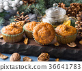 Winter Carrot spiced muffins with walnuts 36641783