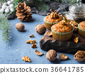 Winter Carrot spiced muffins with walnuts 36641785