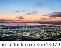 공장 야경 미즈시마 콤비나트 36643079