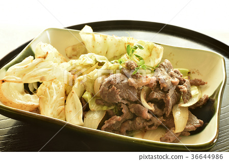 Genghis Khan filled in a plate 36644986