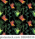 Tropical bamboo in a watercolor style isolated. 36646036