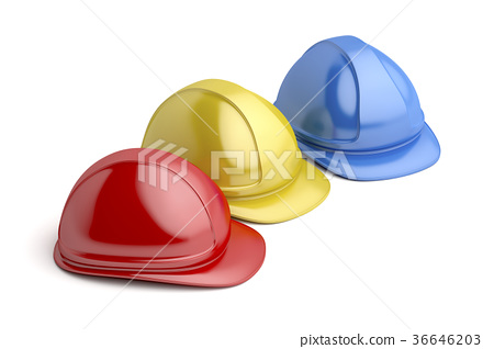Safety helmets with different colors 36646203