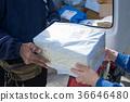 Postman deliver for goods of online shopping 36646480
