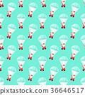 Santa Claus with a parachute. 36646517