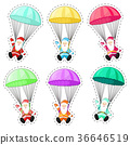 Set Santa Claus with a parachute. 36646519