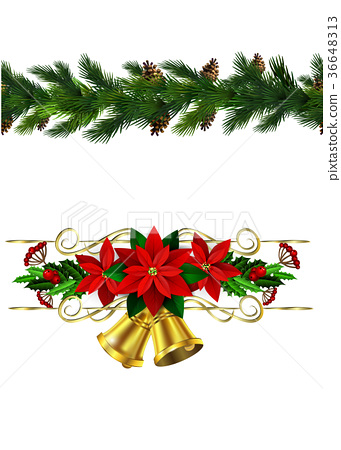 Vector Christmas Border 36648313