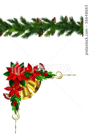 Vector Christmas Border 36648665