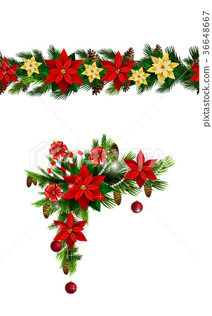 Vector Christmas Border 36648667