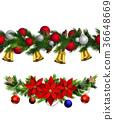 christmas, decoration, vector 36648669