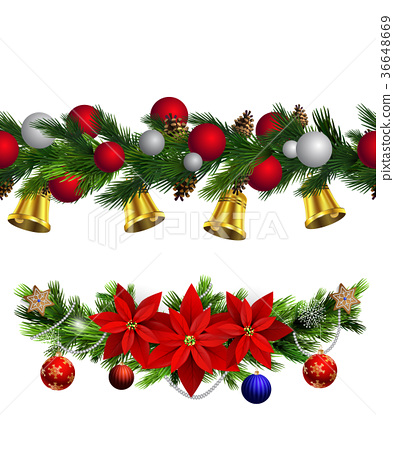 Vector Christmas Border 36648669