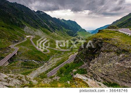 great Transfagarasan rout in stormy summer weather 36648746