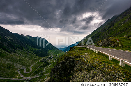great Transfagarasan rout in stormy summer weather 36648747