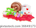 Casino and gambling industry in Poland concept 36649173