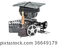 Education in film school concept, 3D rendering 36649179