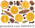 Ingredients for mulled wine isolated on white 36649372
