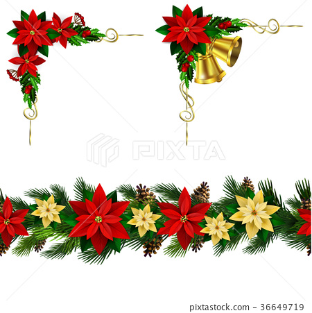 Vector Christmas Border 36649719