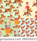 vector, illustration, dog 36650433