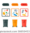 Different recycling vector garbage waste icons 36650453