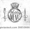 Wedding menu 36650666