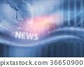 Digital Technology World News Background Concept 36650900
