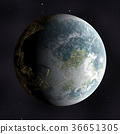 활기찬 하 고 상세한 실제 공간 행성 장면 질감 배경 : 지구 (고해상도 3D CG 렌더링 / 그림 색) 36651305