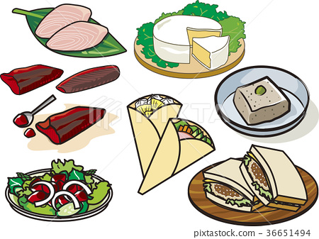 salad, salads, camembert cheese 36651494