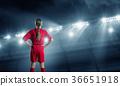 Kid girl soccer player 36651918