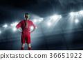 Kid girl soccer player 36651922