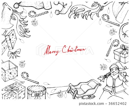 Santa Claus with Sleigh and Gifts Frame 36652402